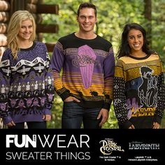 Grab one of our exclusive Labyrinth & Dark Crystal sweaters this holiday!