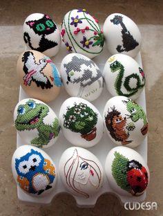Схемы вышивки для пасхальных яиц - Handmade-Paradise