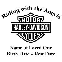 In Loving Memory Motorcycle Chopper Decal Sticker