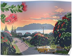 'Great Barrier Island - Road to Leigh' Photographic Print by contourcreative