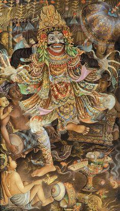 Traditional Paintings, Traditional Art, Barong Bali, Bali Painting, Mask Drawing, Indonesian Art, Thai Art, Masks Art, Circle Of Life
