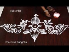 Rangoli is an artistic creation with rice flour that is made outside the front entrance of the house It is usually done by the women folk of the house early . Best Rangoli Design, Indian Rangoli Designs, Rangoli Designs Latest, Rangoli Designs Flower, Free Hand Rangoli Design, Rangoli Border Designs, Small Rangoli Design, Rangoli Designs Images, Rangoli Designs With Dots