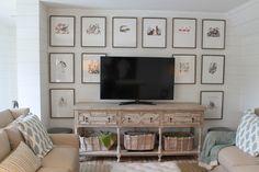 wall decor behind a tv