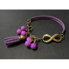 Pulsera de Moda con Bola de Caucho y Símbolo Infinito Bead Jewellery, Jewelry Art, Gemstone Jewelry, Beaded Jewelry, Jewelery, Jewelry Bracelets, Funky Jewelry, Simple Jewelry, Leather Jewelry