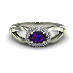 Lab Alexandrite Ring  Color Change  Sideways by CharlesBabbDesigns