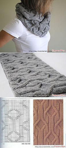 Шарф-снуд спицами - Клуб рукоделия - Страна Мам | Patterns + Tutorials Knit Crochet Lucet Tatting and more | Pinterest | Cowls, Cable and Knitting