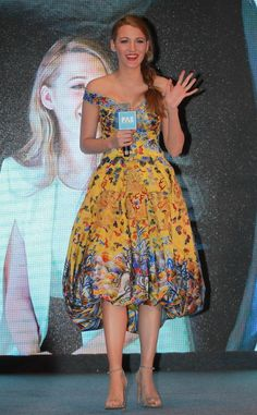In Laurence Xu Couture at a press conference for the movie 'Log Out' in Beijing. See all of Blake Lively's best looks.