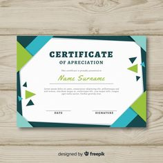 Abstract certificate template concept. #vector