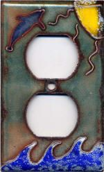 Enameling - Outlet cover by Jerra Banwarth