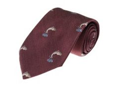 Leaping Salmon Tie Wine image Wine Images, Tie Accessories, Online Purchase, Salmon, Men, Fashion, Moda, Fashion Styles, Atlantic Salmon