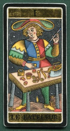 I. The Magician - Alexander Andreev's Silver & Gold Tarot. This card symbolizes one of the stages of the Fool's Journey towards self-discovery. The Fool stands for all of us.