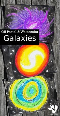 Space Art Image for Kids to create. Make your own Oil Pastel Galaxies that kids will love to make.  #spaceart #artforkids #spacetheme #kidsart #rainydaymum