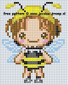 fairy Perler Beads pattern | Fairy bee perler bead pattern