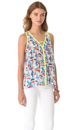 Milly Avery Sailboat Print Top $196.00