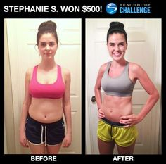 Awesome job Stephanie.  You can change too. You could be the next winner of $500 or up to $100,000. Ask me how. www.ryanwilliamsfitness.com