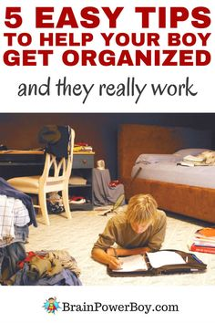 Use these 5 easy tips to help boys get organized and you will be helping your boy develop good habits that will follow him throughout his life. Plus you can skip the messy room!
