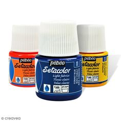 Achetez à prix mini le produit Peinture tissu Setacolor Pébéo - Tissus clairs - 45 ml - Livraison rapide, offerte dès 49,90 € !