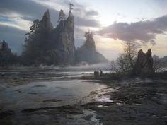 ArtStation - Dry lake. Environment concept., Sergey Vasnev