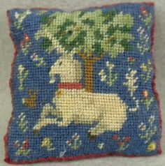Petit Point Pillow - Unicorn