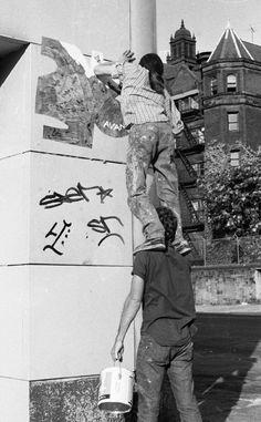 1980's Street Art Origins NYC, New York History..it looks to be Upper West Side Manhattan.