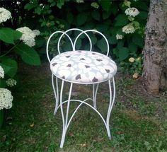 A refurbished vanity chair
