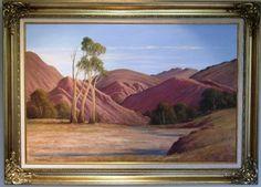 Leonard Long oil titled 'Through the Gorge, Arkaroola, Flinders S. Coast, Australia, Oil, Artist, Painting, Artists, Painting Art, Paintings, Painted Canvas