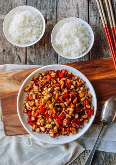 In my recent mission to make more Chinese vegan dishes, I've created Kung Pao Mushrooms, a vegan version of the classic Kung Pao Chicken. Kung Pao Mushrooms is King Mushroom, Mushroom Dish, Mushroom Recipes, Pesto, Asian Recipes, Ethnic Recipes, Asian Foods, Chinese Recipes, Wok Of Life