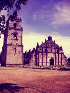 Paoay Church (Spanish: Iglesia de San Agustín de Paoay), Ilocos Norte, Philippines, 1686 -completed in Ilocos, Baroque Architecture, Coral Stone, Old Churches, Filipino Food, Philippines Travel, Adventure Is Out There, Pinoy, Heritage Site