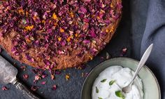 Orange, Rose and Polenta Cake