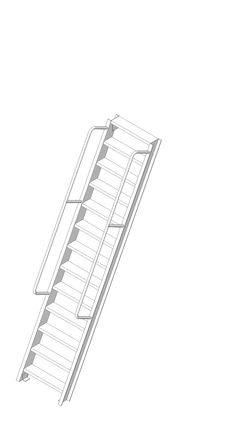 Precision Ladders Fixed Ladder Caged Walk Thru With