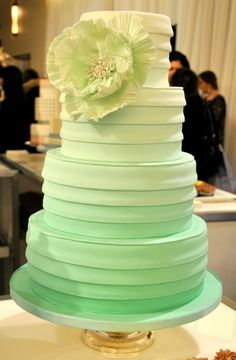 mint green ombre wedding cake 1000 images about ombre wedding ideas on 17448