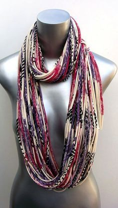 Hand-printed infinity scarf. So pretty.