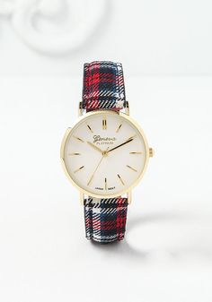 Red Plaid Watch