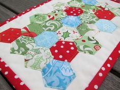 Christmas Hexagon Mugrug