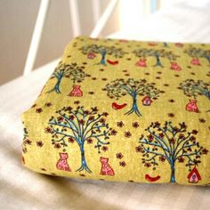 Forrest trees linen fabric