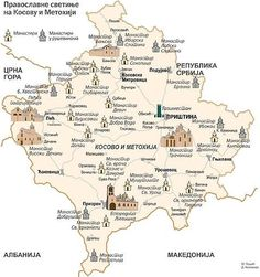 The HOLY LAND. Serbian monasteries in Kosovo and Metohija. In Kosovo and Metohija there are over 1,600 Serbian monasteries and sanctity. These are just some of them.