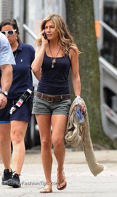 Jennifer Aniston-I love her simple style.