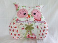 Owl cushion novelty Owl pillow owl shaped by DawnsBagBoutique, £18.00 Owl cushion, owl pillow in Cath Kidston for IKEA 'Rosali' fabric Would compliment any bedroom or living area!