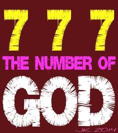 Mijn T-shirt-prints: 777 The Number Of God
