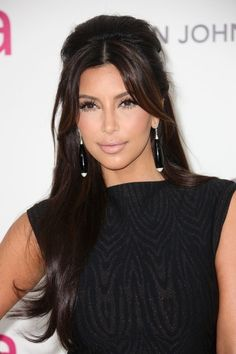Kim Kardashian Long Straight Cut with Bangs, Kim Kardashian Long Straight Cut and kim kardashian bangs hairstyle details and pictures For More Visit http://kimkardashianhot.info/