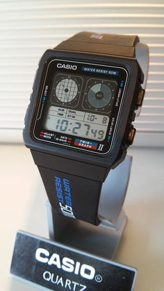 Casio Women's Daily Alarm Digital Watch – Fine Jewelry & Collectibles Retro Watches, Old Watches, Vintage Watches, Watches For Men, Wrist Watches, Casio Vintage Watch, Seiko Vintage, Casio Watch, Casio Digital