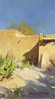 by Colley Whisson Contemporary Landscape, Urban Landscape, Abstract Landscape, Landscape Paintings, Artwork Paintings, Beautiful Paintings, Beautiful Landscapes, Environment Painting, Southwest Art