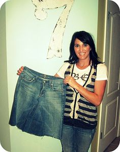 The tutorial i use to make jean skirts from a pair of cheap jeans... just fabulous! :)