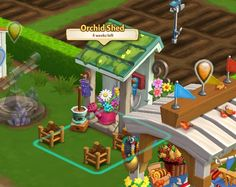 PM 2 Farmville 2, Mobile Game, Game Art, Pop Up, Orchids, Shed, Cartoon, Games, Houses