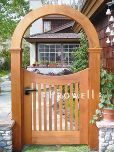 Astonishing Cool Tips: Garden Fence Low Height Modern Fence House.Modern Fence Home Depot Wooden Fence Gate Hardware. Wood Fence Gates, Wooden Garden Gate, Garden Gates And Fencing, Wood Arbor, Garden Arbor, Wooden Gates, Garden Archway, Brick Fence, Concrete Fence