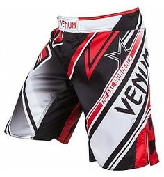 Venum Wand's CONFLICT MMA Shorts Black Ice Red - Fightwear Shop