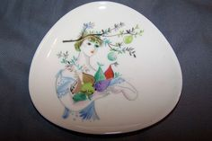 ROSENTHAL, GERMANY, SMALL TRIANGLE SHAPED PLATE,