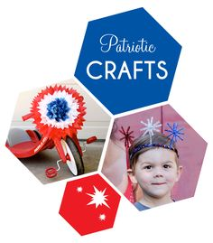 Patriotic Crafts - Celebrate the 4th with Flair // smallfriendly.com