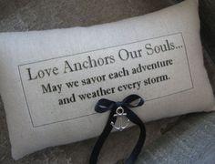 Nautical, Anchor, Ring Bearer Pillow, Ring Pillow, We Do, Ring Pillows, Ringbearer Pillow, I Do, With This Ring, Rustic Wedding