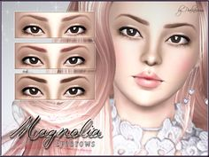 Magnolia Eyebrows by Pralinesims • Sims 3 Downloads CC Caboodle
